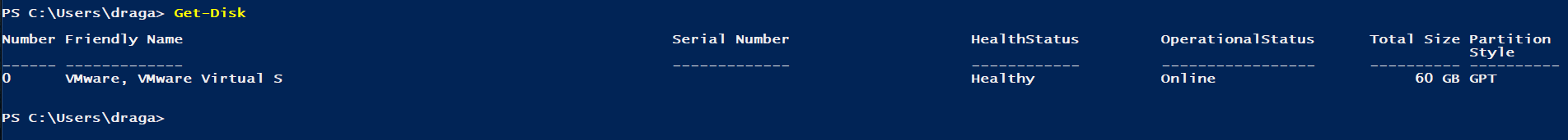 Disk Partition style as GPT